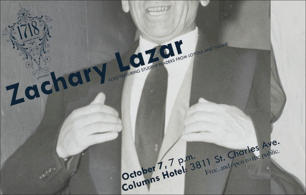 Zach Lazar Poster 2014.10.7